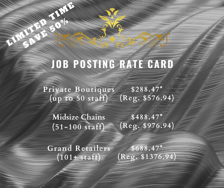 Job Posting Rate Card - Luxury Careers Canada
